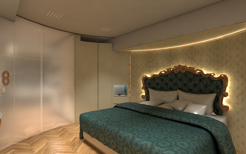 Image of the bedroom in the eleMMent Palazzo Superior