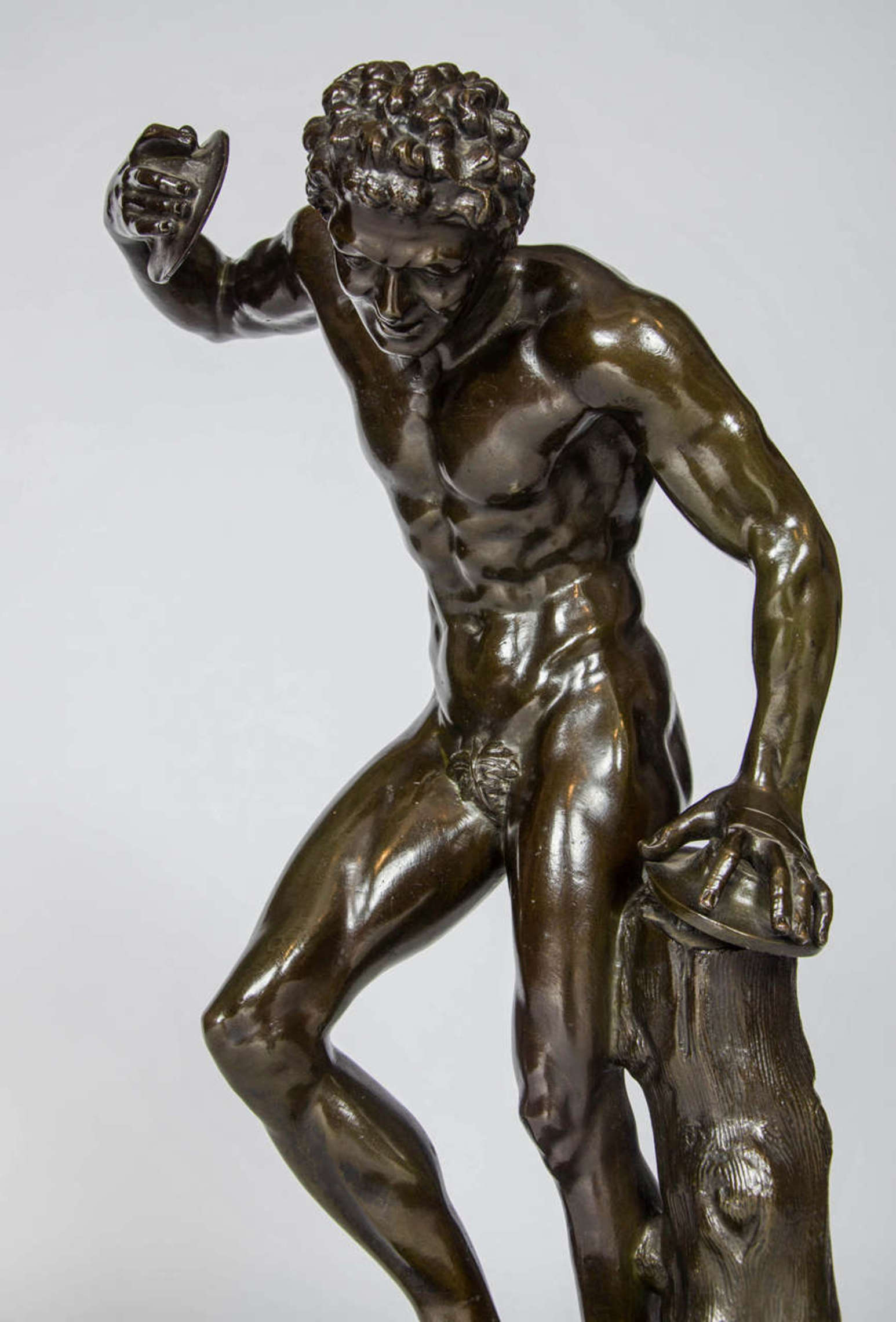 Dancing Faun Bronze Sculpture