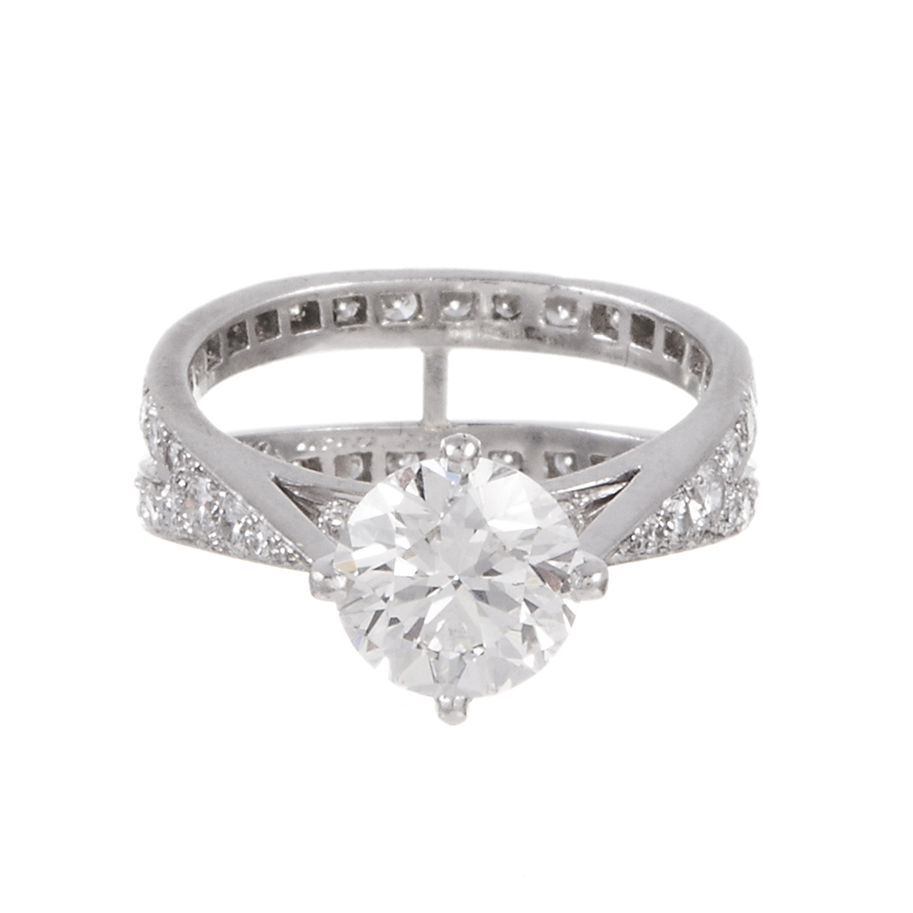 TIFFANY & CO 1.79 CT H/VVS1 ENGAGEMENT RING