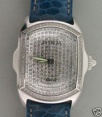 Estate Invicta Diamond Lupah Model 2335 Stainless Steel Watch Water Resistant
