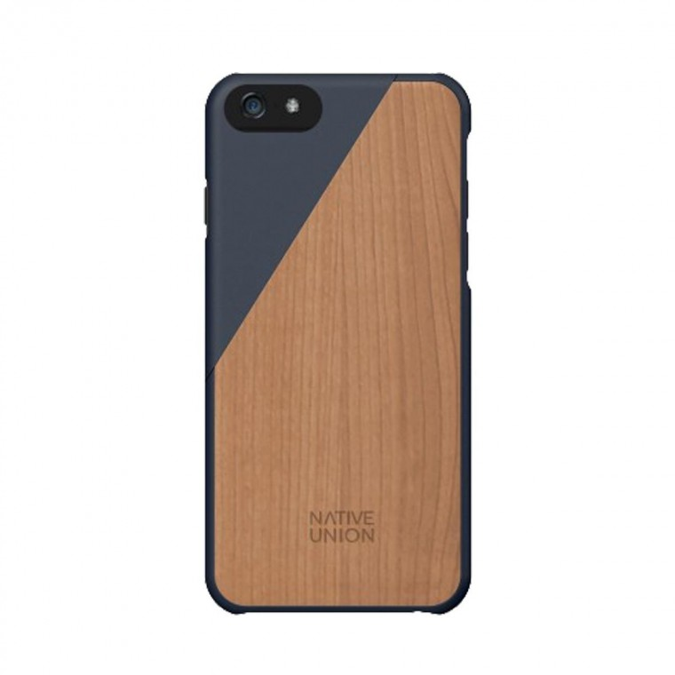 Wooden iPhone Case Click - Aquamarine