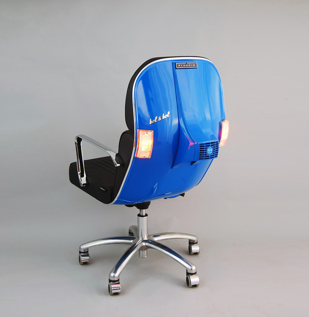 BEL&BEL SCOOTER CHAIR New Edition - BLue &Black