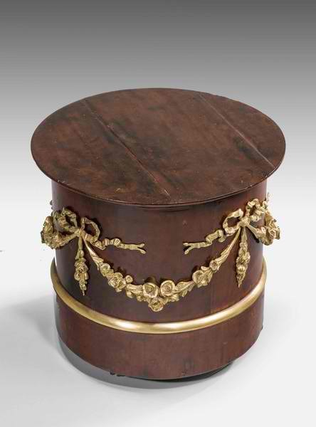 19TH CENTURY FRENCH MAHOGANY PLINTH