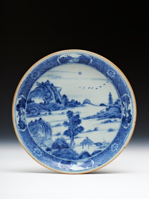 Chinese porcelain plate, Yongzheng reign, Qing dynasty