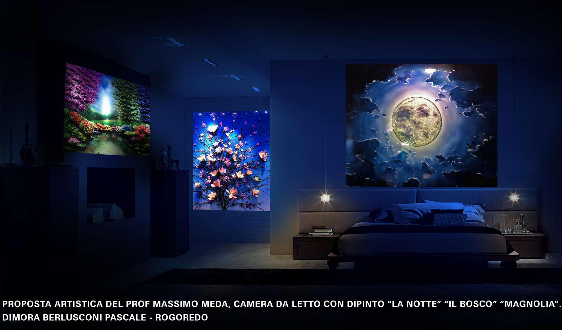 fluorescent three-dimensional painting