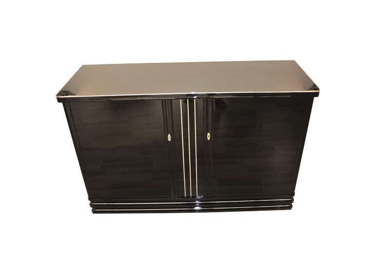 1930s Art Deco Highboard in Highgloss Black
