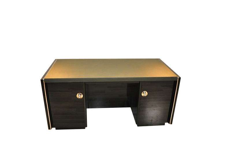 Massive Art Deco Desk with Leatherplate