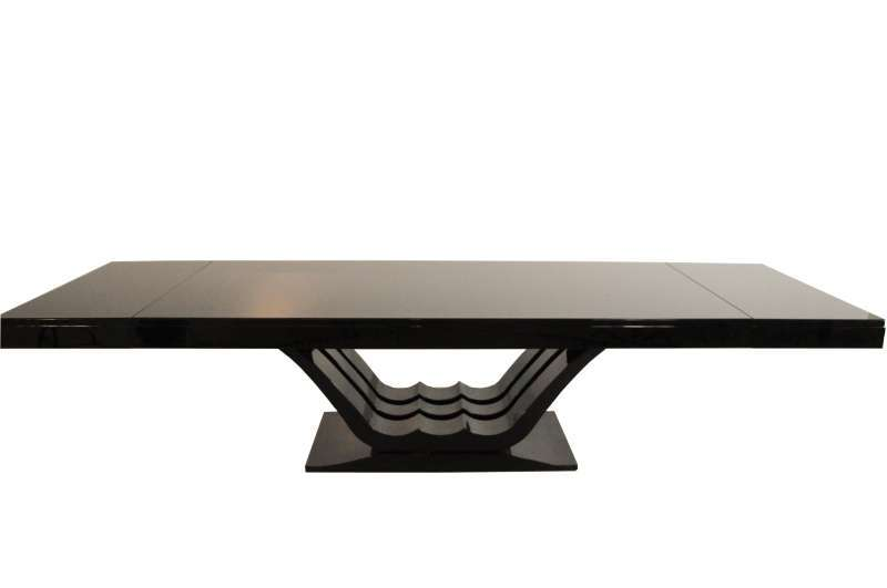 Large Art Deco Dining Table in Highgloss Black