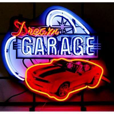 Dream Garage Modern Chevrolet Camaro Neon Sign