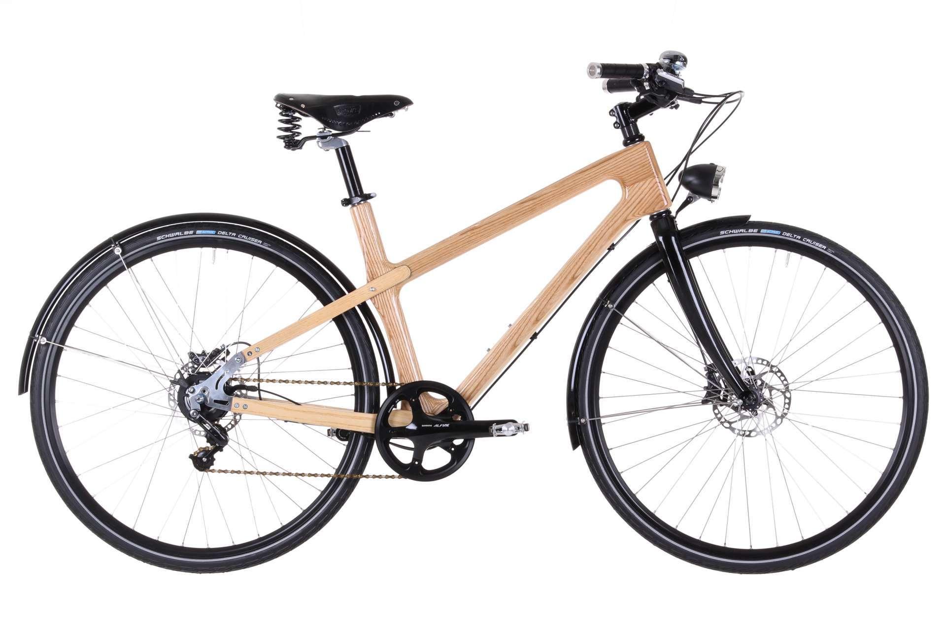 Materia Bikes - Wooden bicycle - City Bike Grace