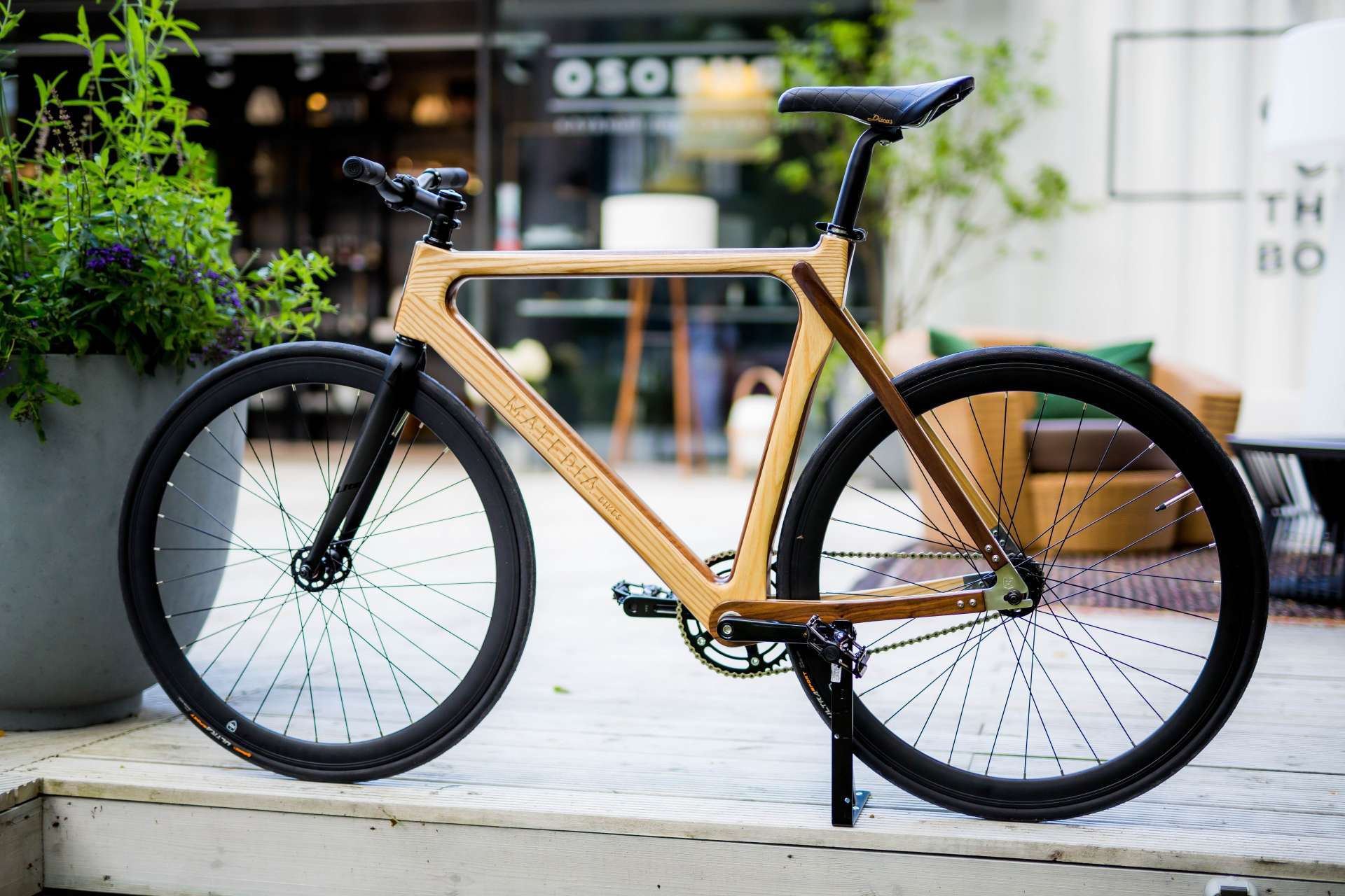 Materia Bikes - Wooden bicycle - Fixed-gear Bike WUDU