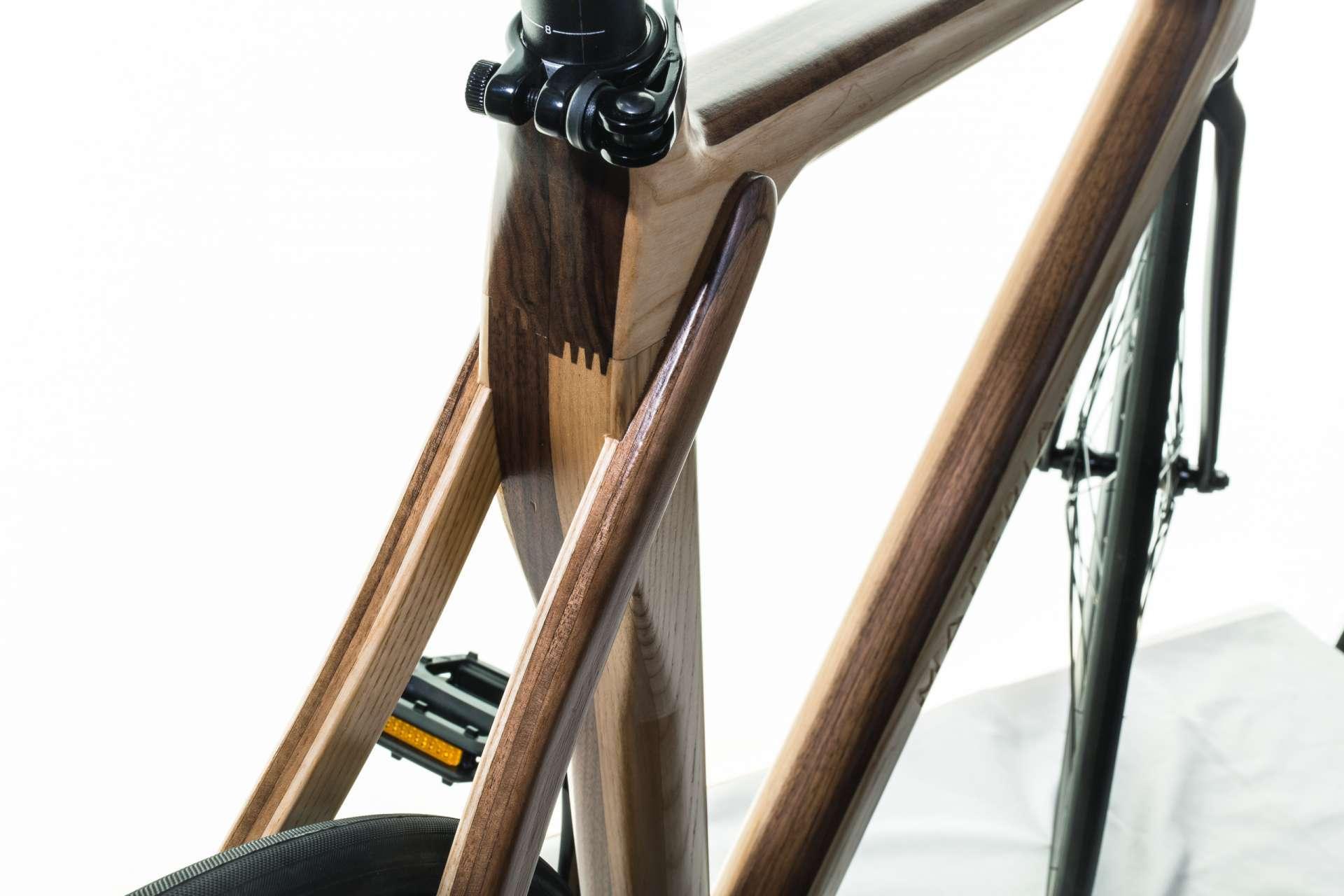 Materia Bikes - Wooden bicycle - Fixed-gear Bike WUDU
