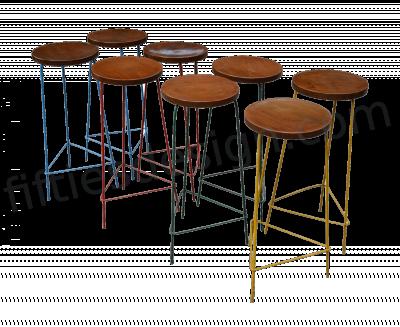 Pierre Jeanneret Unique Set of 8 Hight Stools