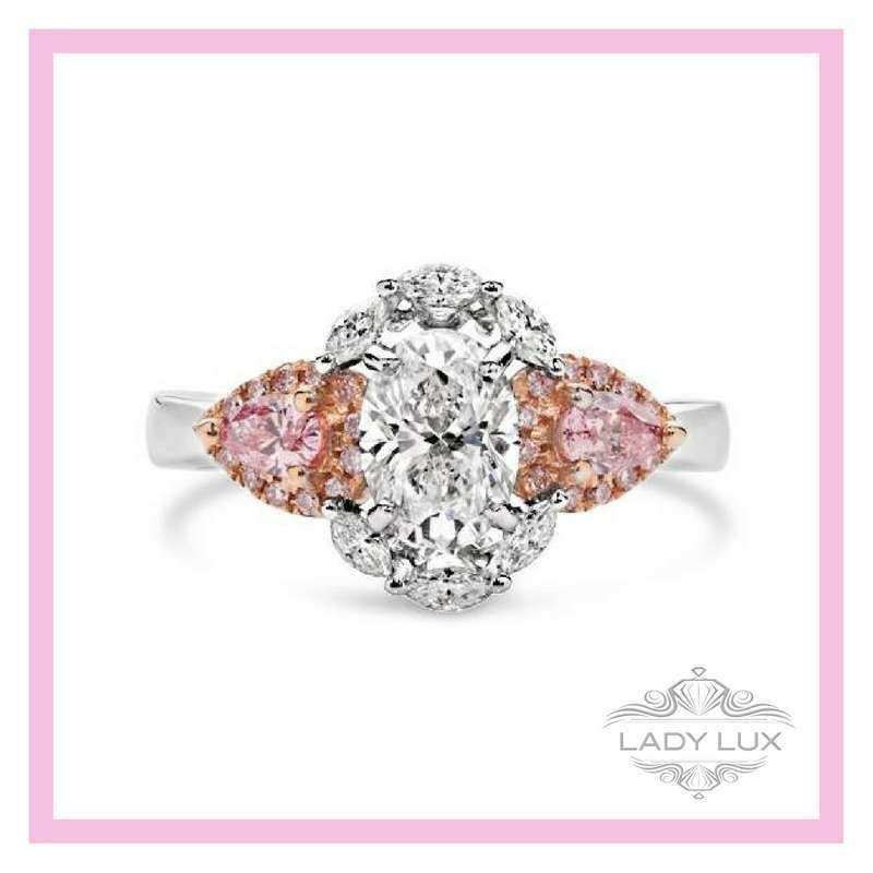 Pink Diamond Accent Ring