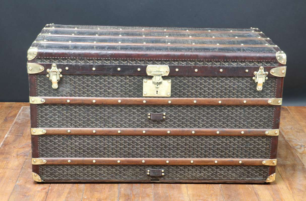 1930s Goyard Steamer Trunk