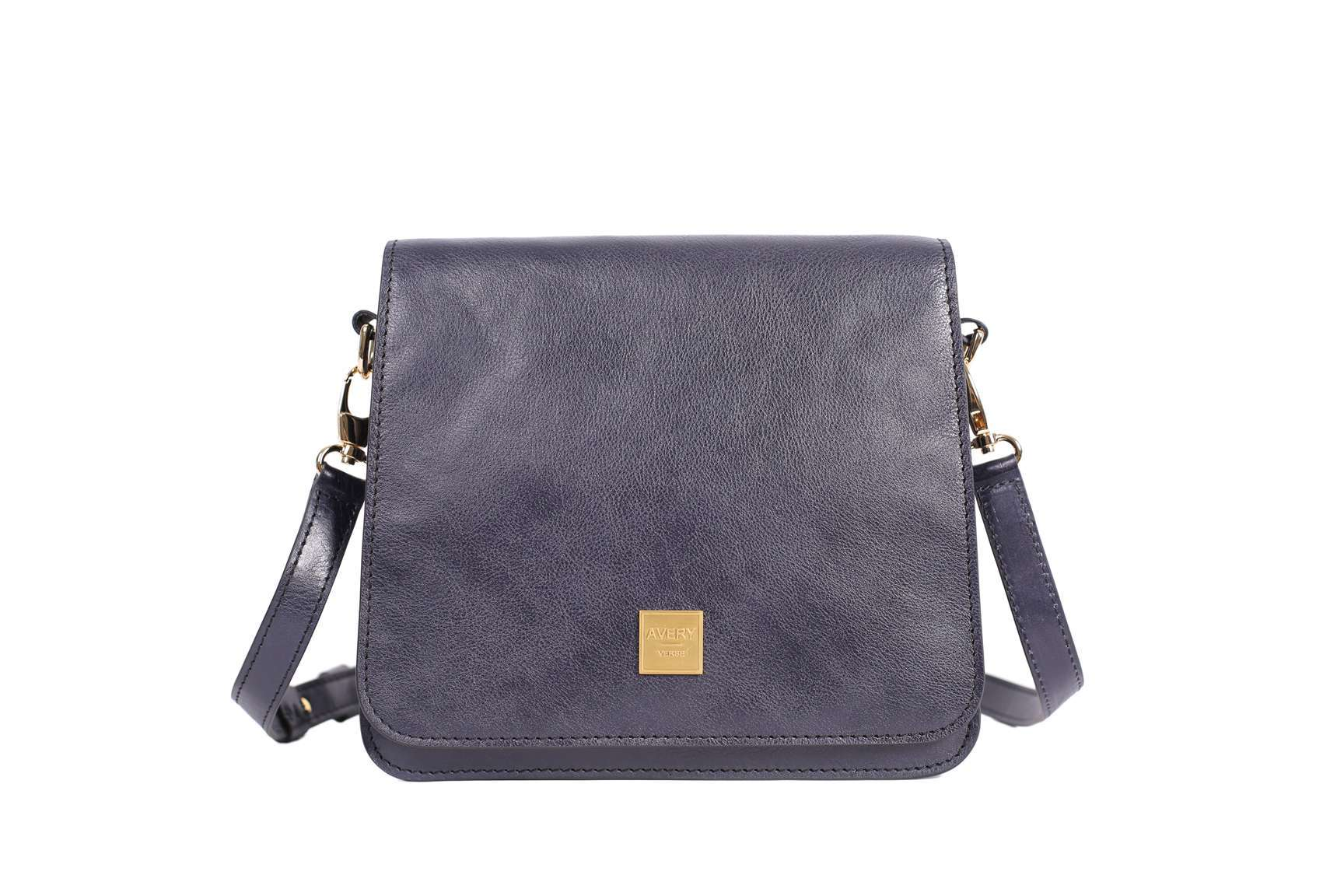 The Urban Stroll Shoulder Bag in Blue Italian Leather