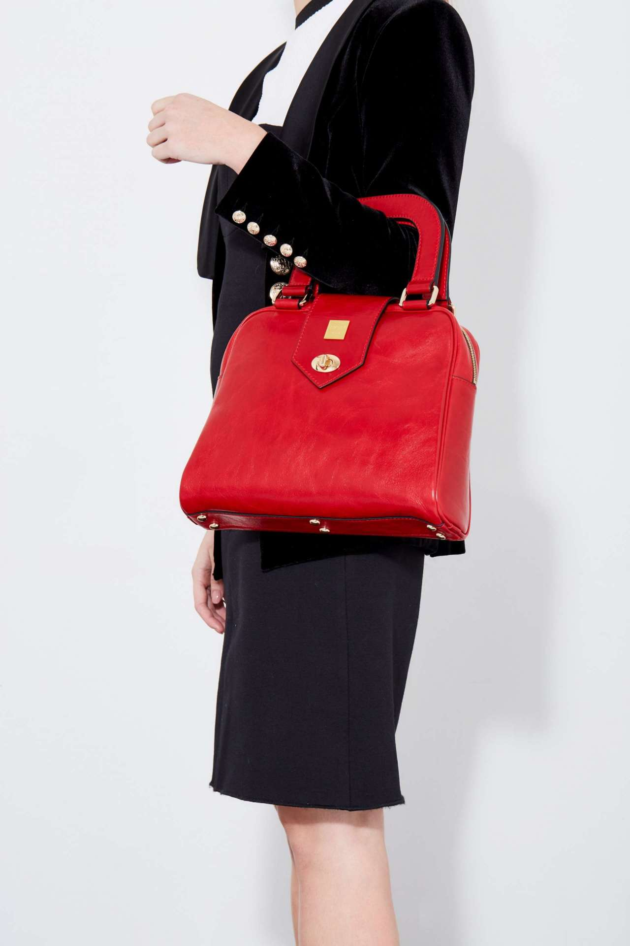 The Ballad Handbag in Red Italian Leather