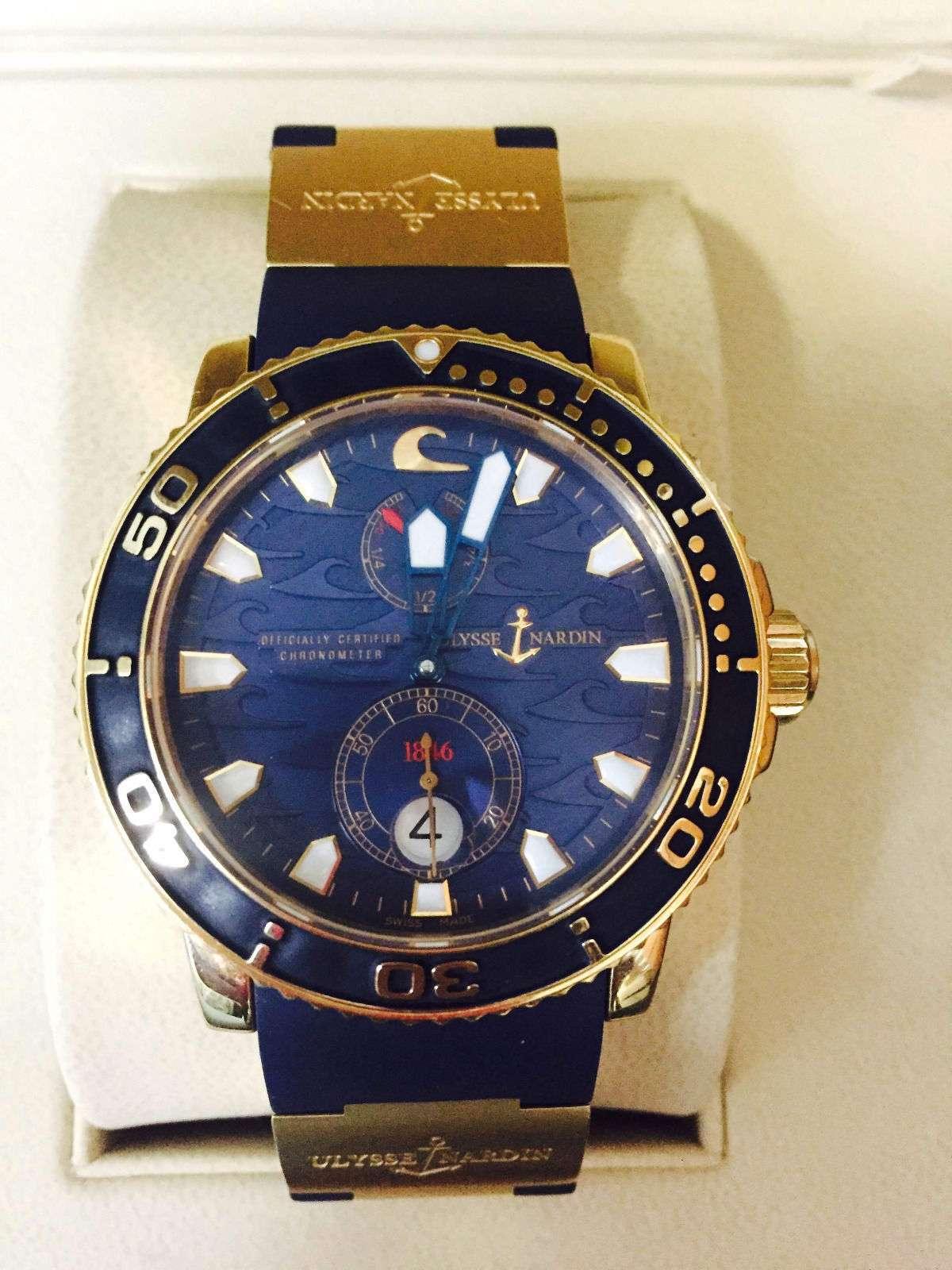 Ulysse Nardin BLUE SURF ROSE GOLD MAXI MARINE DIVER 266-36LE-3A