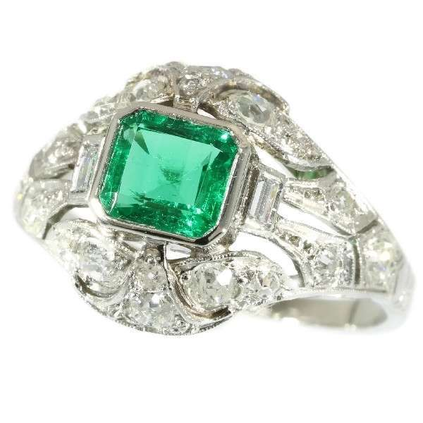 Colombian Emerald and Diamond Ring ca.1920