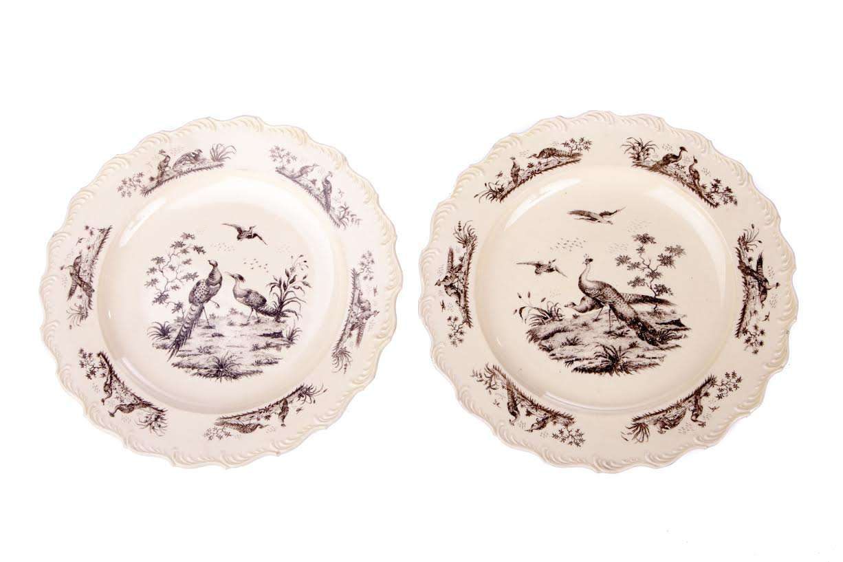 9508 – 18th Century Pair of Creamware Plates