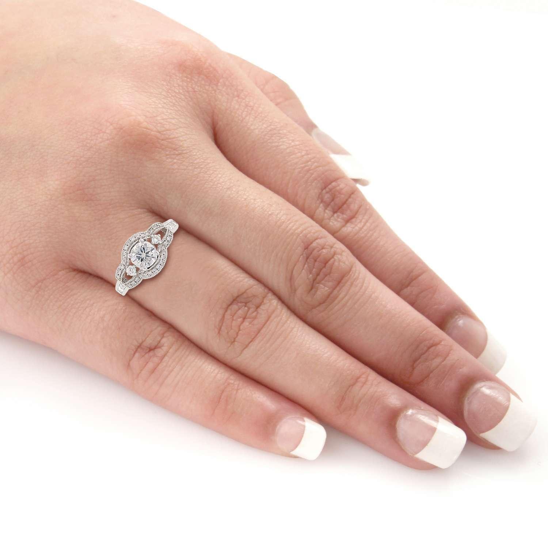 0.70ct Diamond Platinum Unity Ring (1.65ctw)