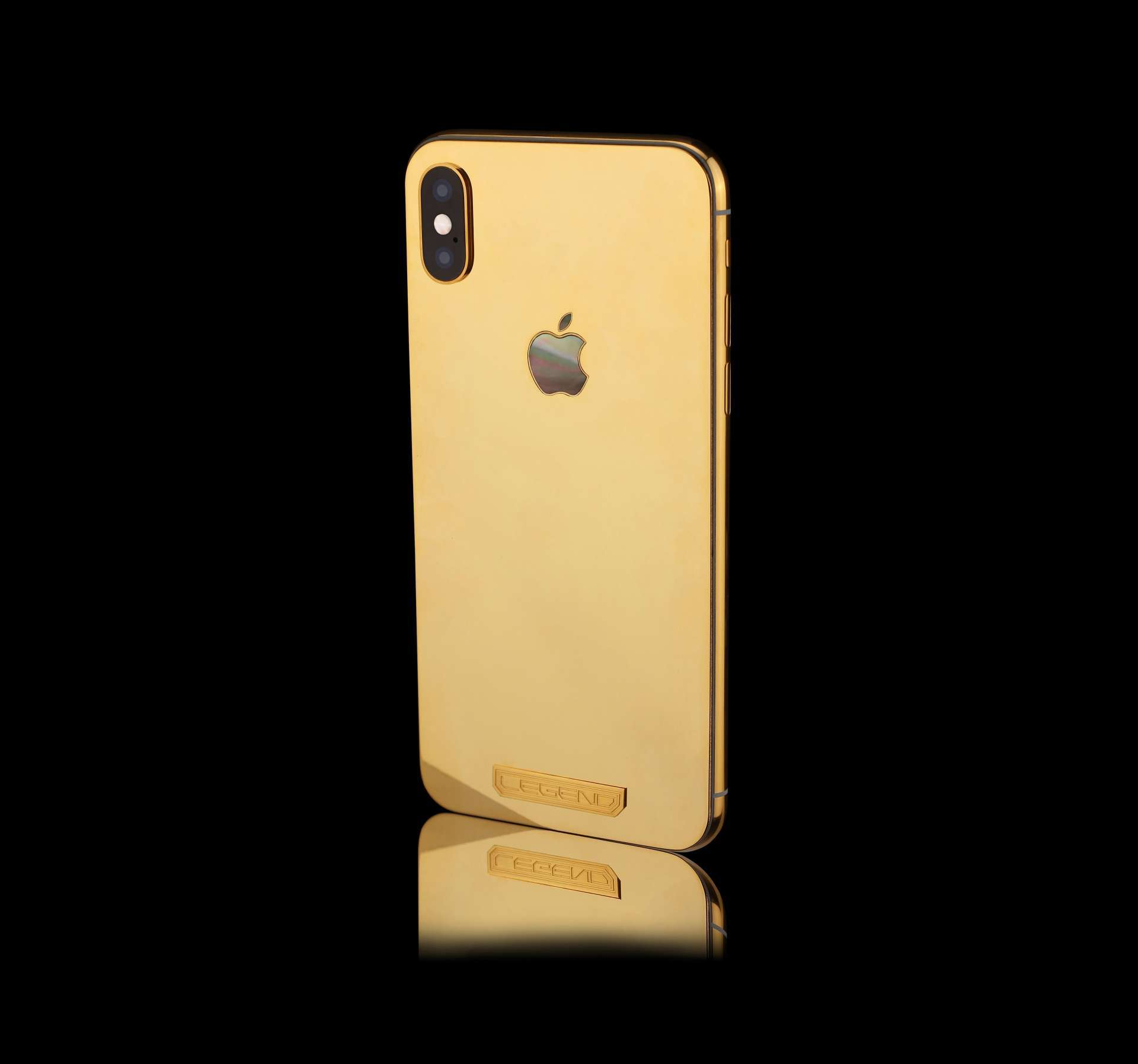 Custom iPhone X 256Gb 24k Gold limited edition | Bespoke with solid gold MOP