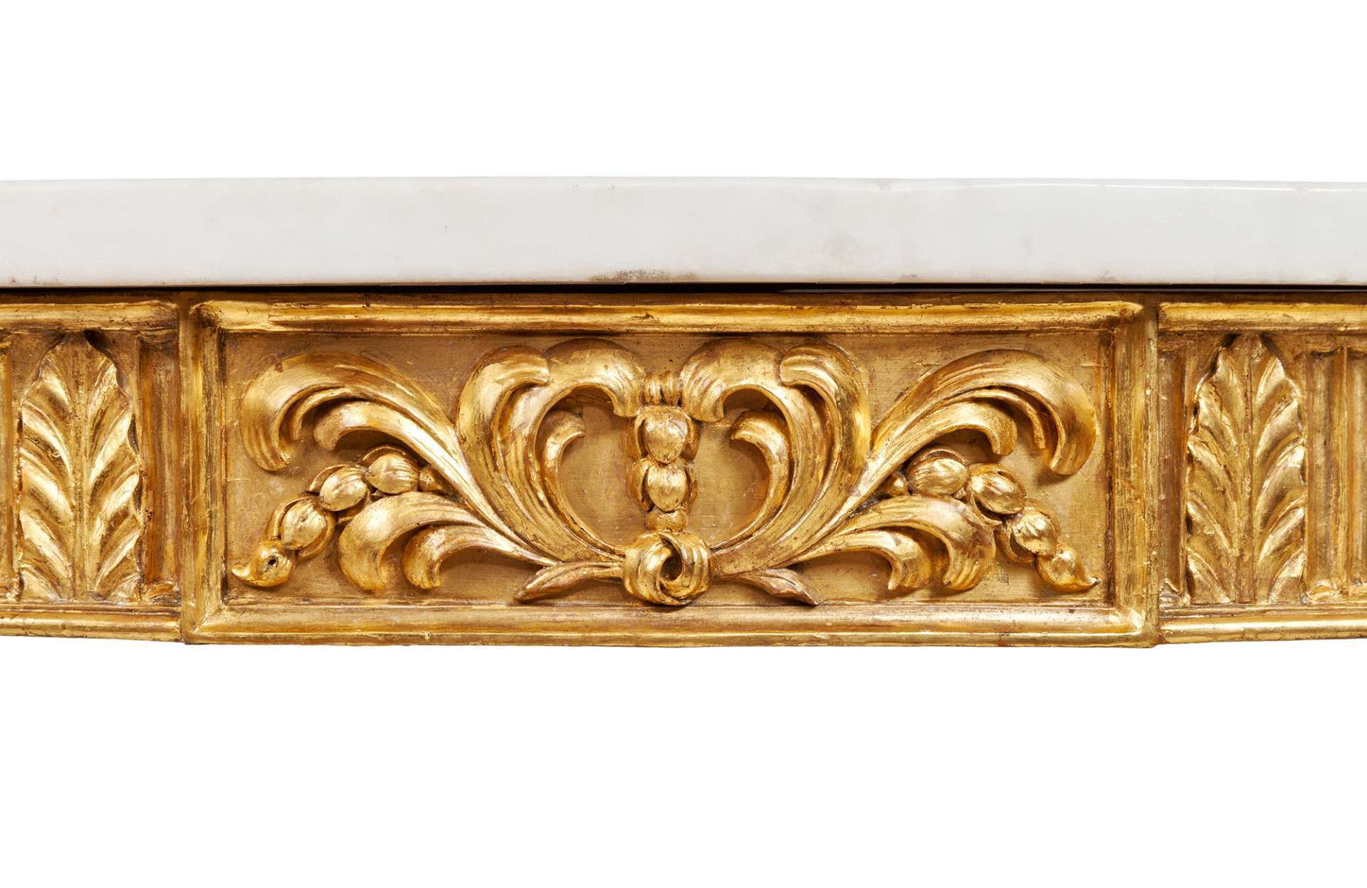 2668 – Late 18th Century Gilt Console Table and Marble Top