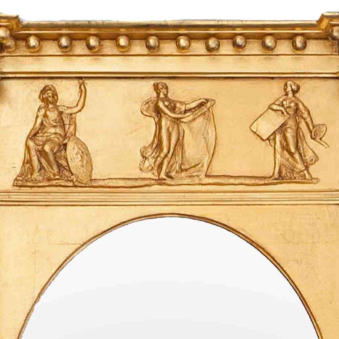 3048 – 19th Century English Regency Gilt Neoclassical Mirror