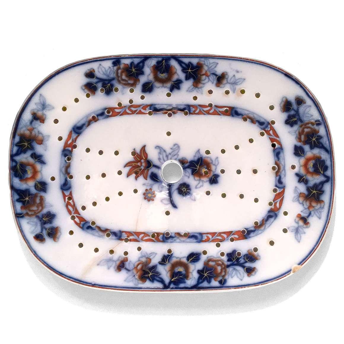 0428 – 19th Century Ceramic Fish Strainer