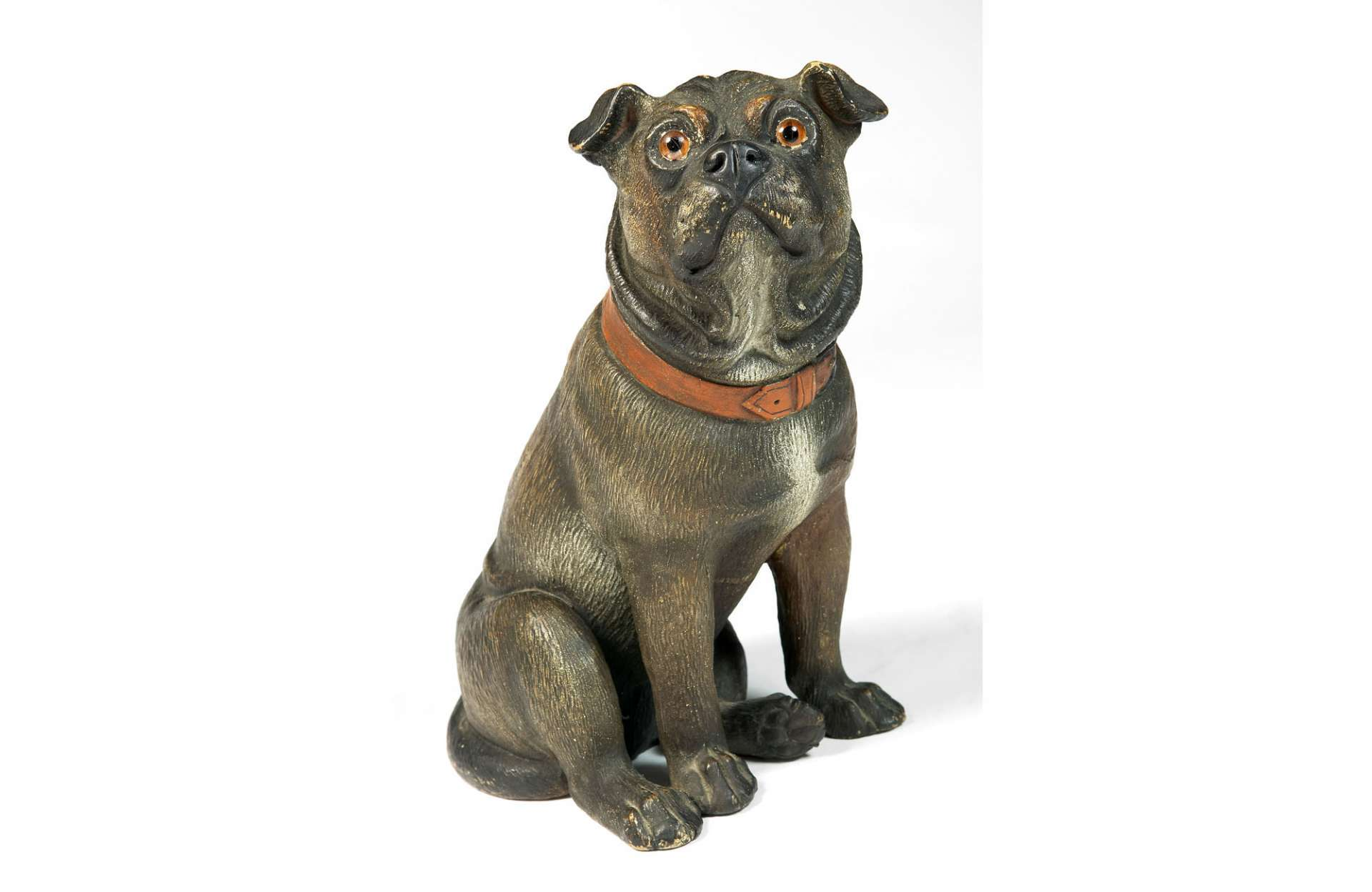2529-Ceramic Seated Pug Dog