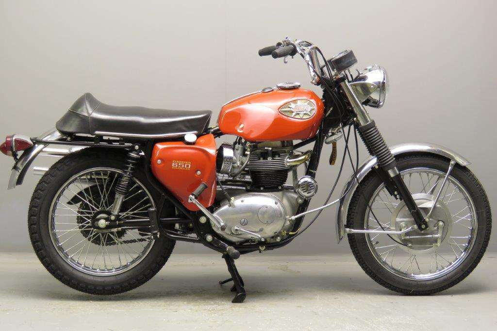 BSA 1968 A65 Firebird 650cc 2 cyl ohv 2712