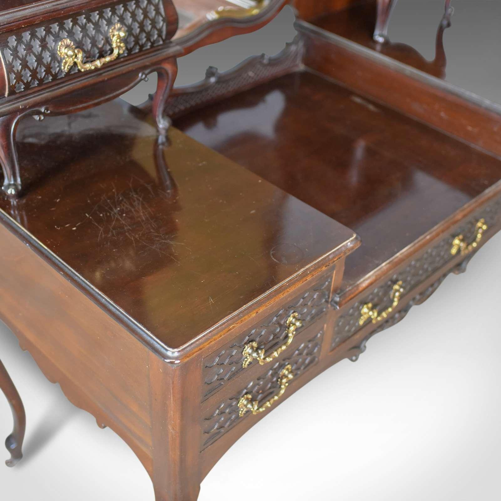 Antique Dressing Table, Mahogany, English Circa 1910