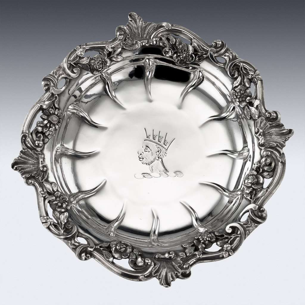 ANTIQUE 18thC GEORGIAN SOLID SILVER SWEETMEAT DISHES, WILLIAM CRIPPS c.1753