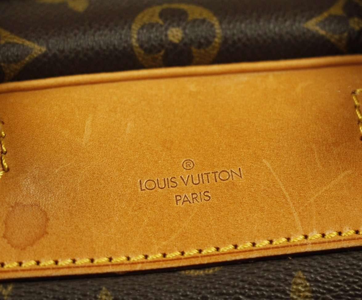 "LOUIS VUITTON ""DEAUVILLE"" BROWN TAN CANVAS HANDBAG"