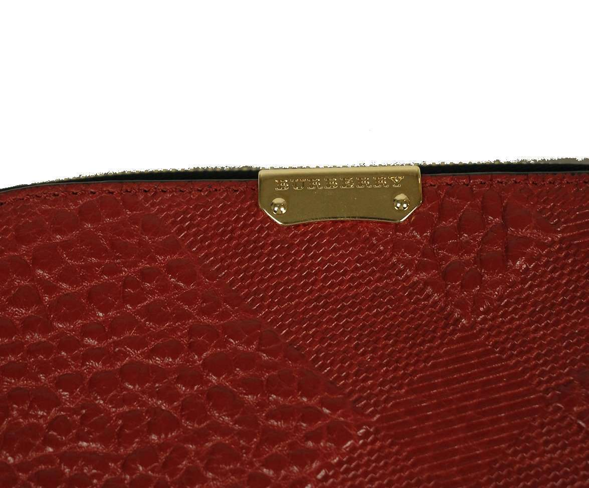 BURBERRY RED LEATHER WALLET