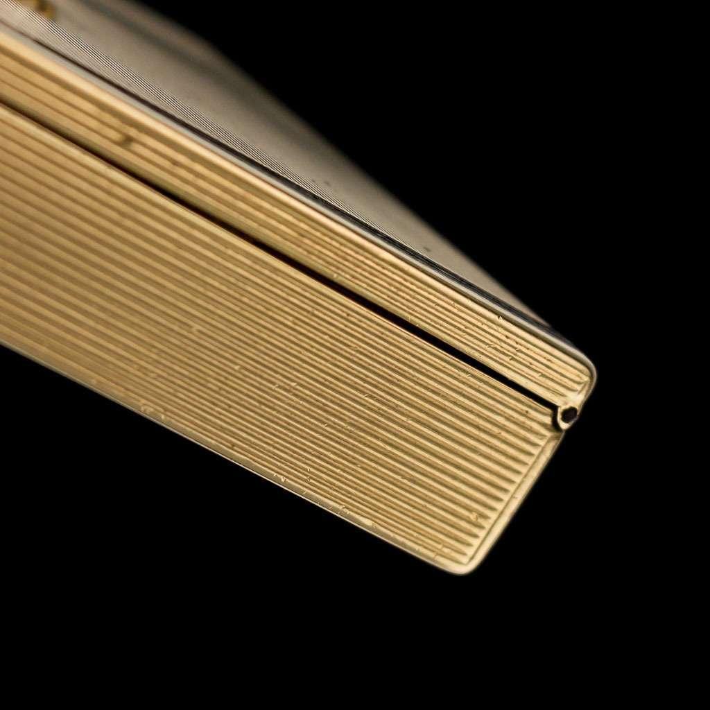 ANTIQUE 20thC TIFFANY ART DECO GOLD, ENAMEL & DIAMOND VANITY CASE c.1920