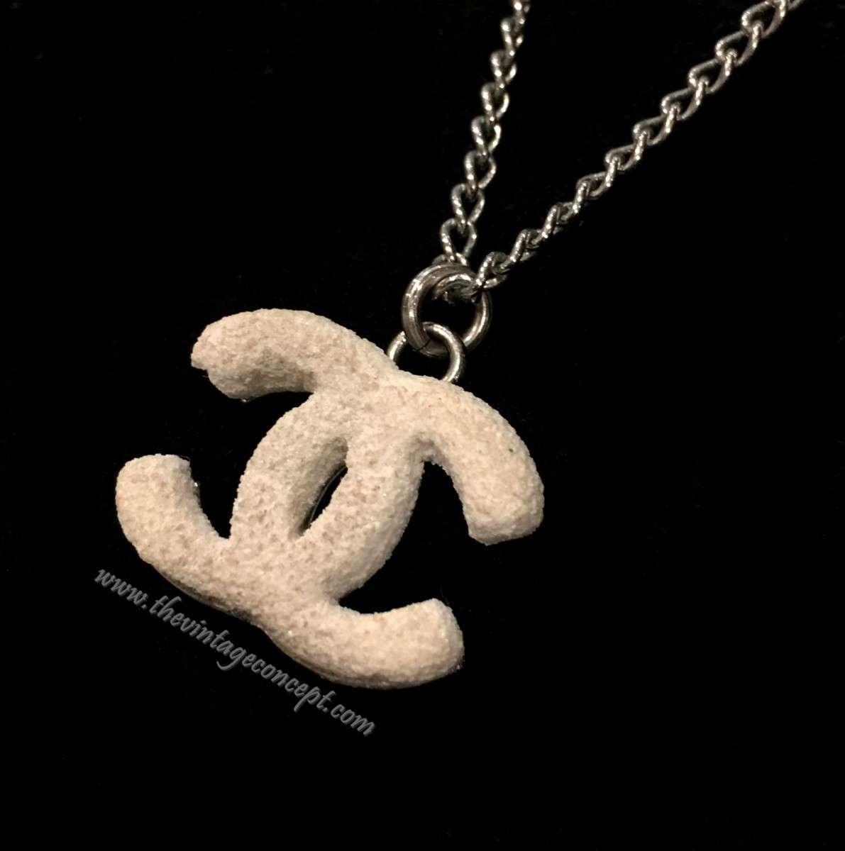 Chanel Rock Texture Logo Necklace