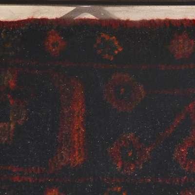 Wiesie Dining Table with Vintage Persian Rug in Epoxy Resin