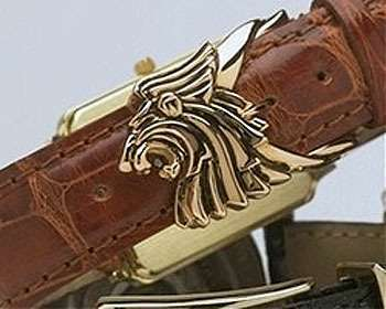 18K GOLD LIMITED EDITION LION WRISTWATCH BUCKLE