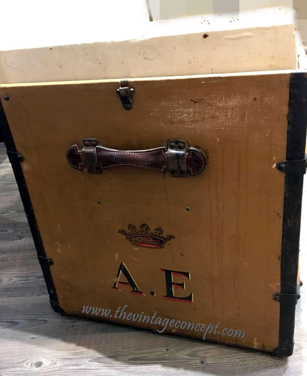 """Louis Vuitton Crown Initials"""" A.E"""" Trunk"""