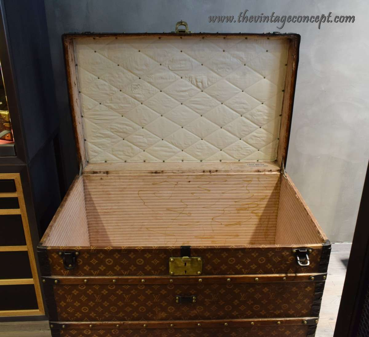 "Vintage Louis Vuitton Malle Courier Initials ""O.S"""