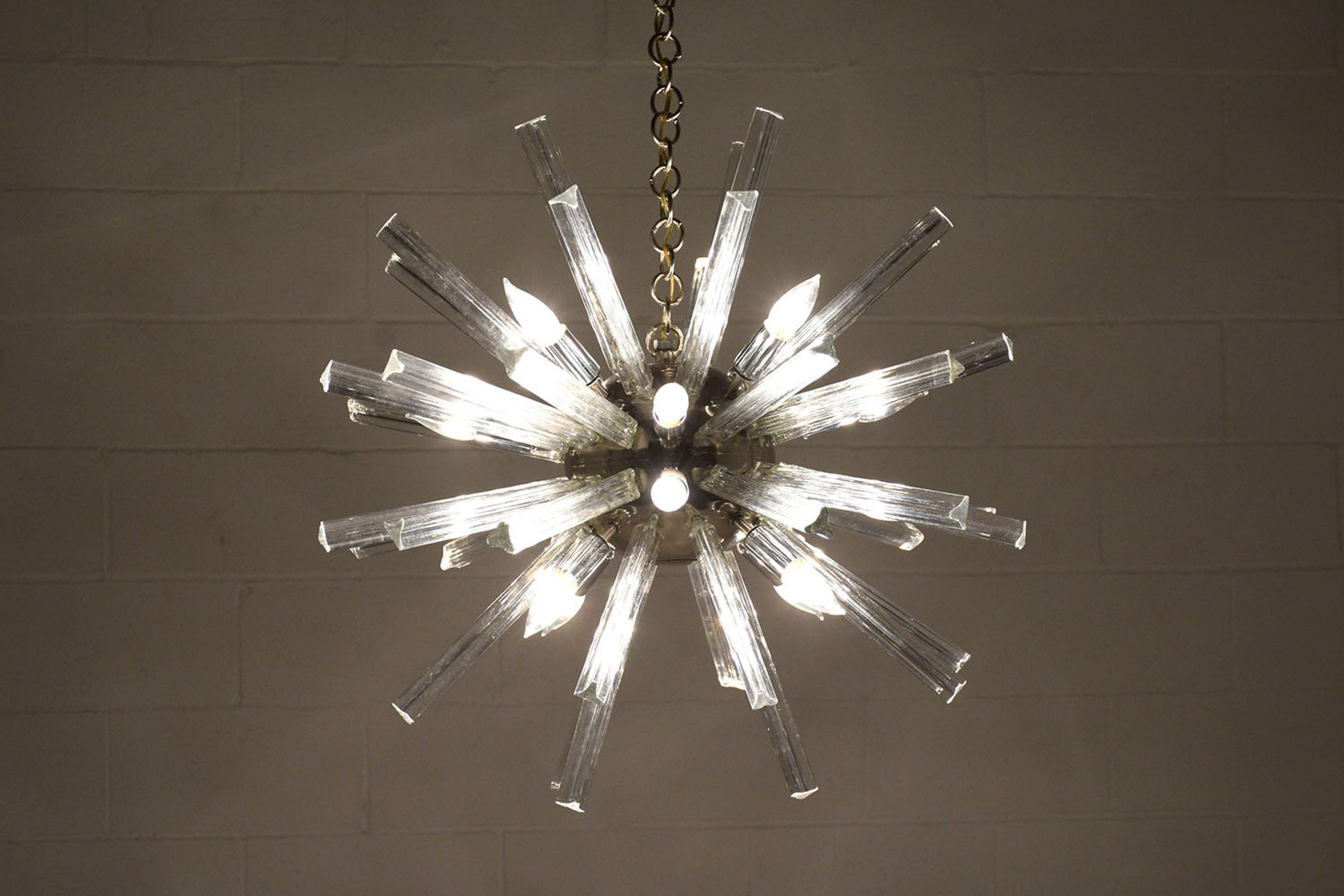 Mid-Century Sputnik 12 Light Chandelier