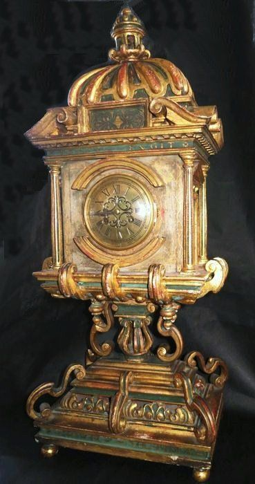 Neoclassical Sanctuary Clock - Reliquary with inscriptions - France, 19th century