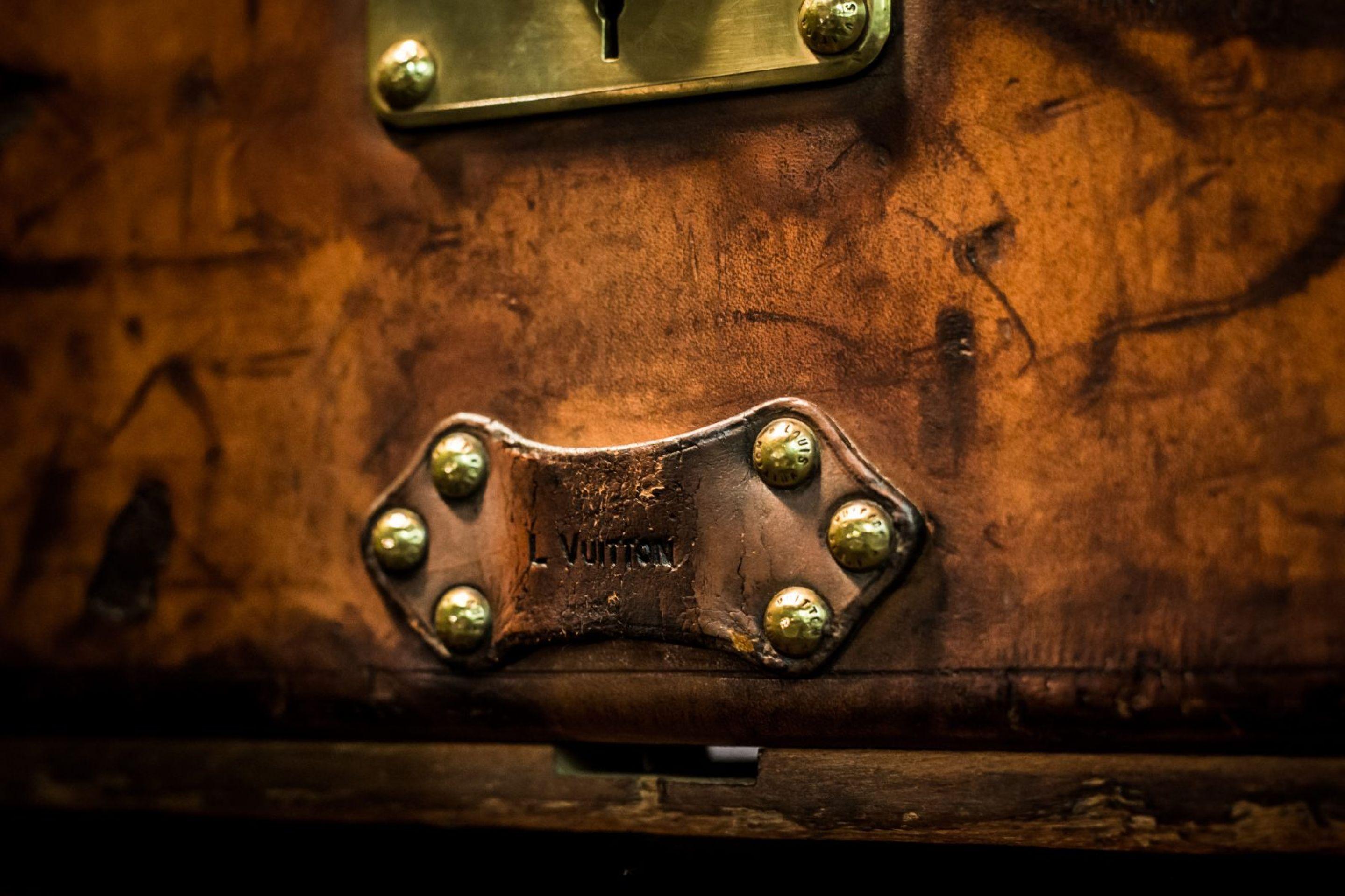 Louis Vuitton Leather Cabin Trunk