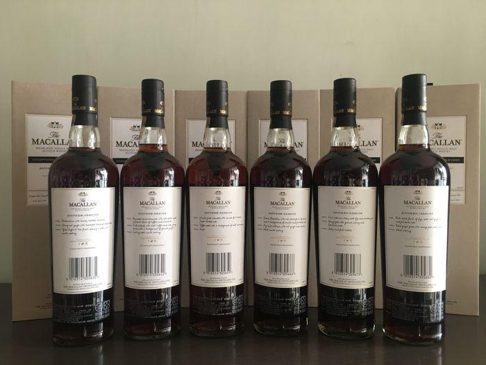 6 bottles - Macallan Exceptional Single Cask Series 02-07