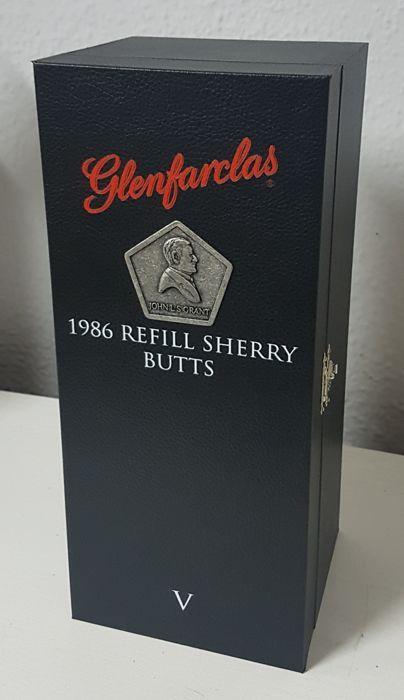 Glenfarclas 1986 Refill Sherry - limited edition - OB