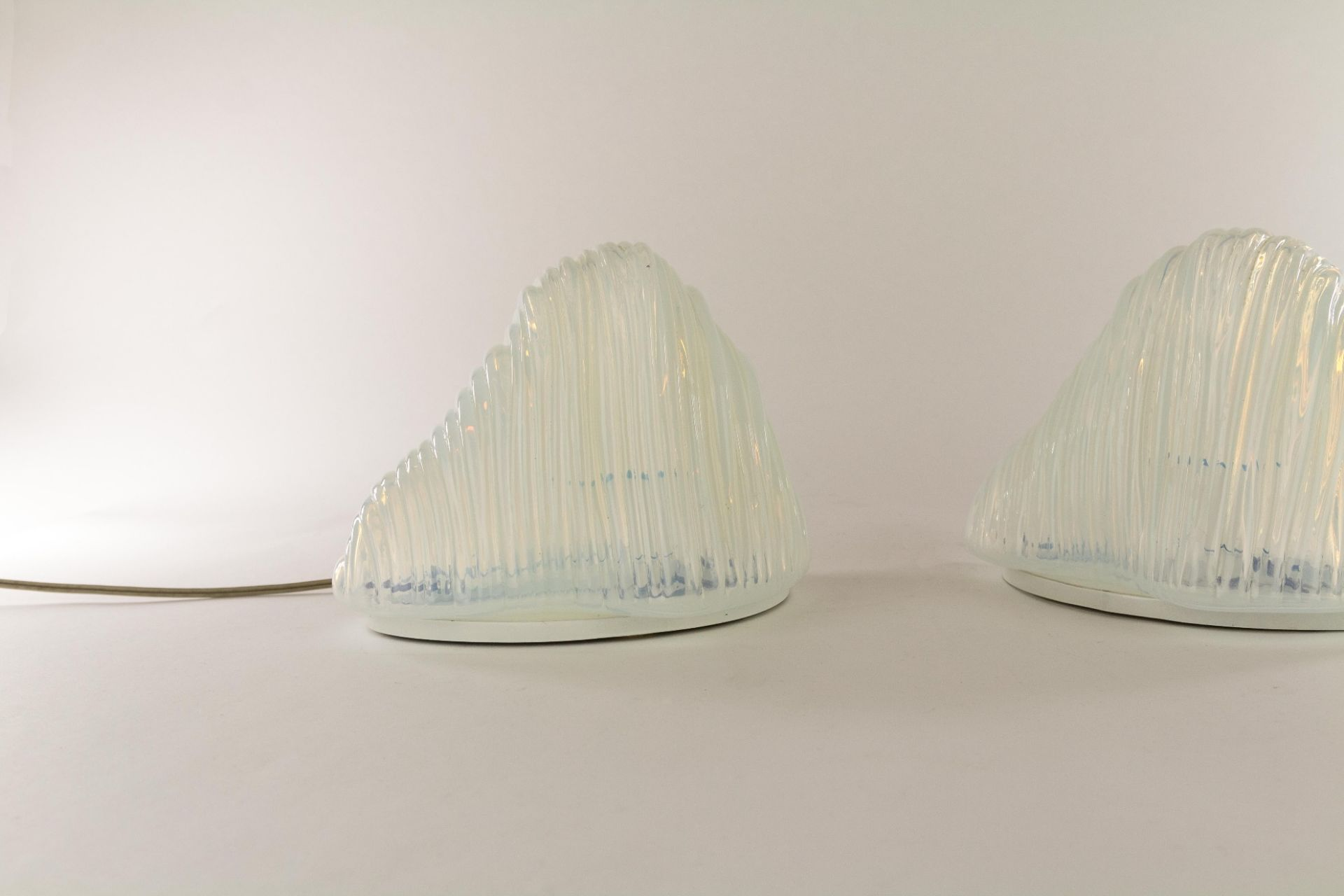 Pair of Iceberg Table lamps by Carlo Nason for A.V. Mazzega, 1960s