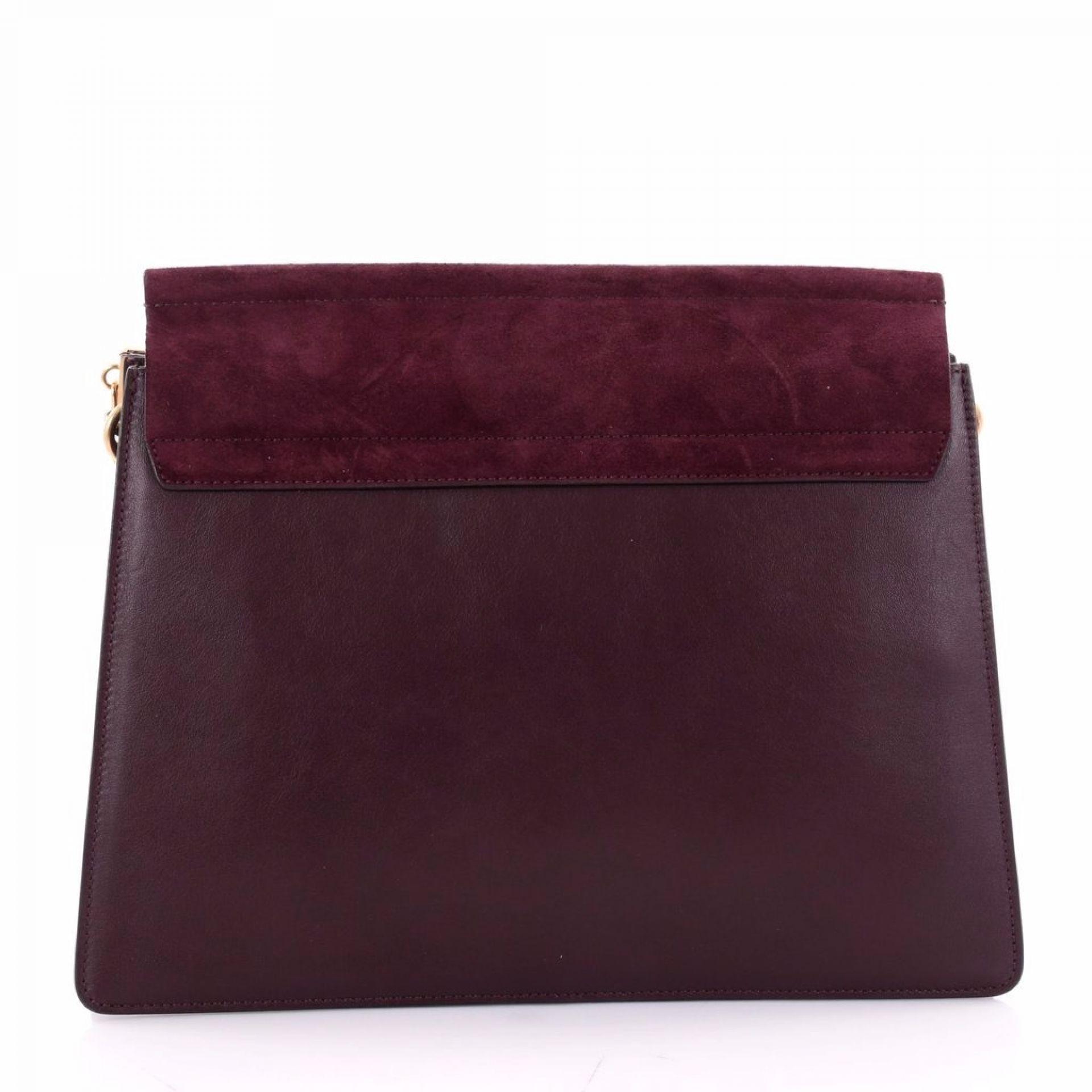 Chloe Faye Shoulder Bag Studded Leather and Suede Medium