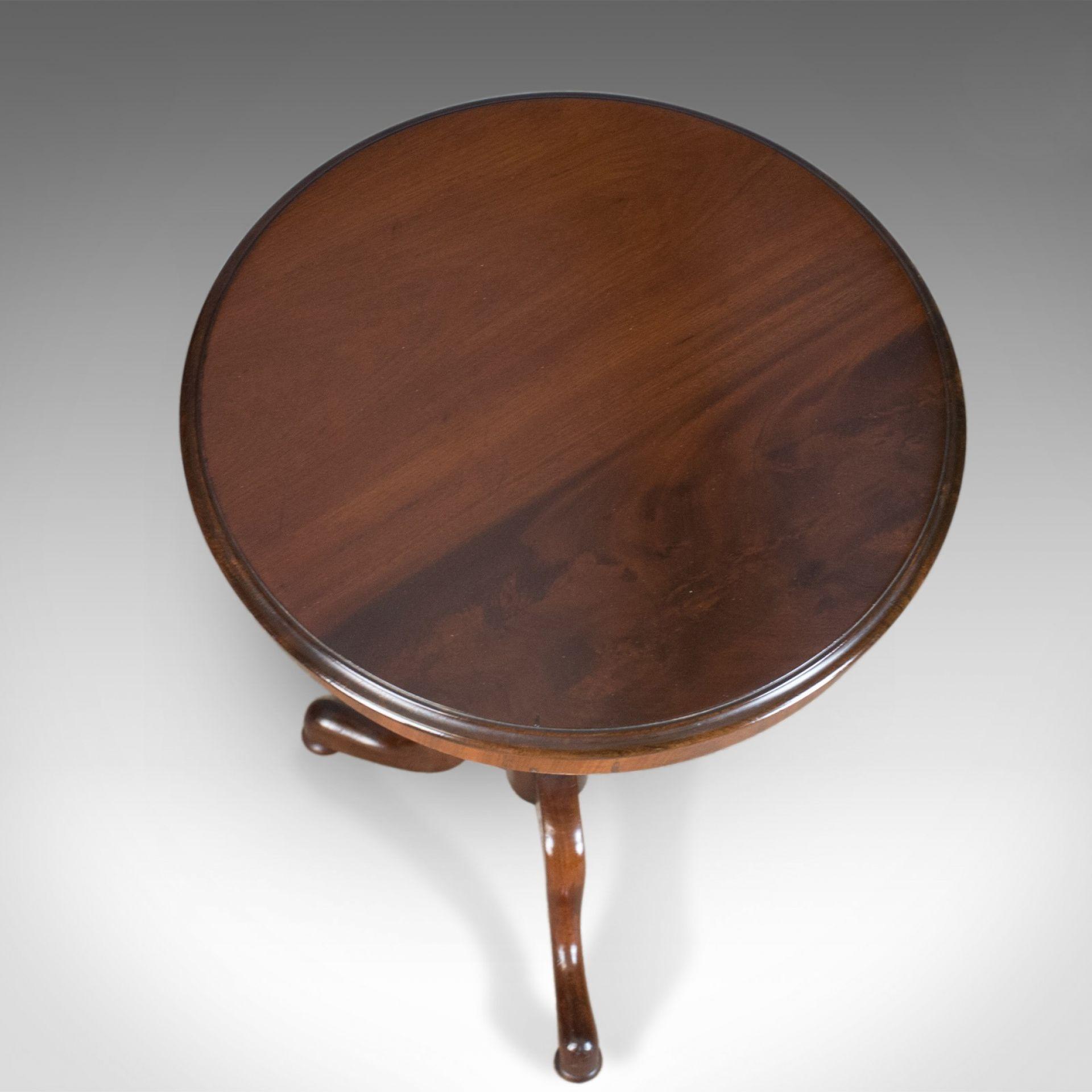 Antique Wine Table, English, Regency, Circular, Side, Mahogany Circa 1830