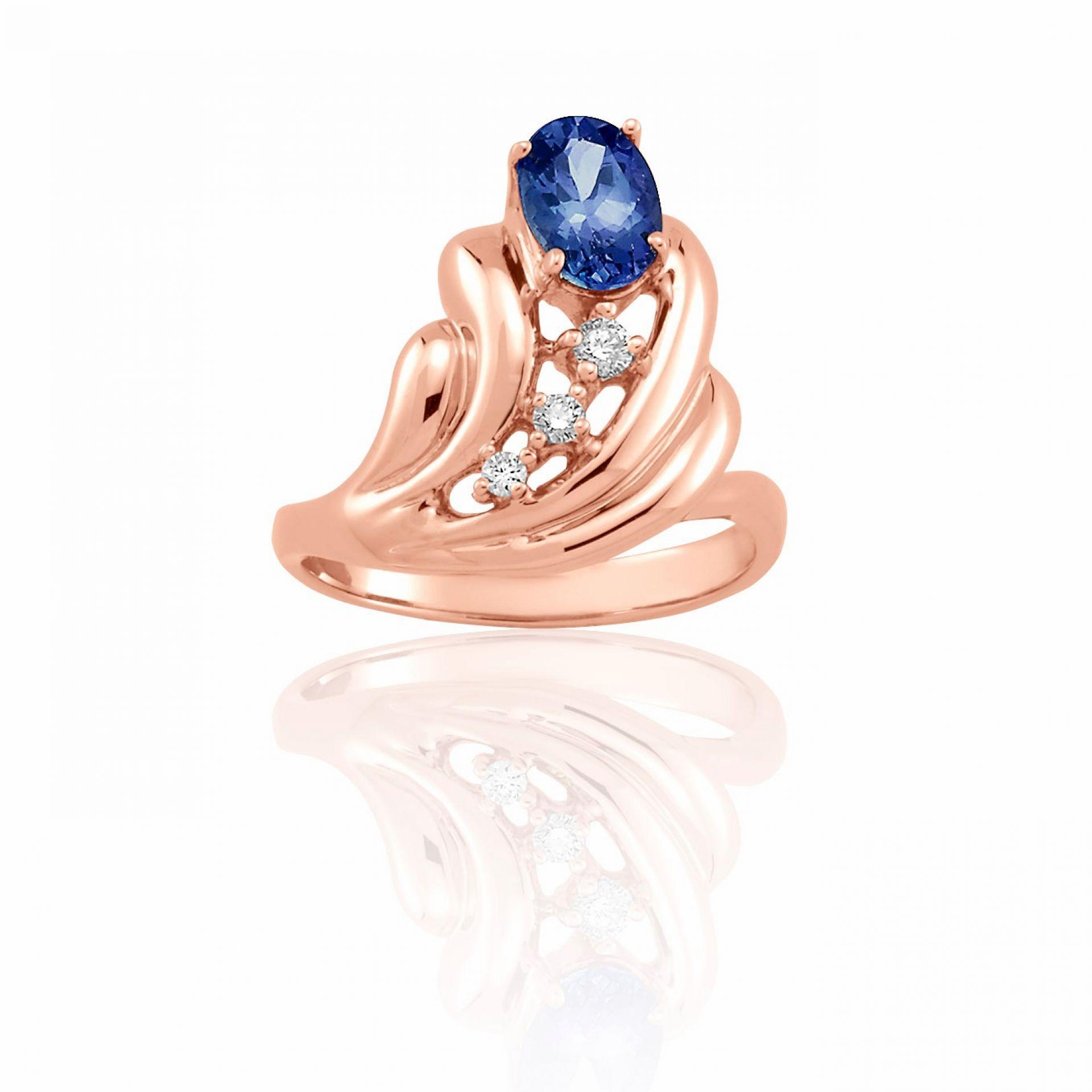 Oval Tanzanite & White Diamond Ring R106999-R